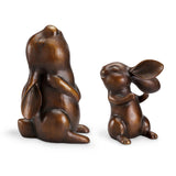 Laughing Rabbits Large Garden Figurines