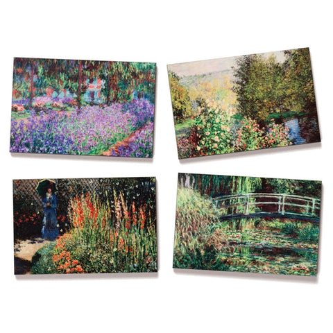 Monet Gardens Fine Art Magnets, Set of 4
