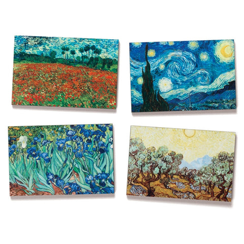 Van Gogh Landscapes Fine Art Magnets, Set of 4