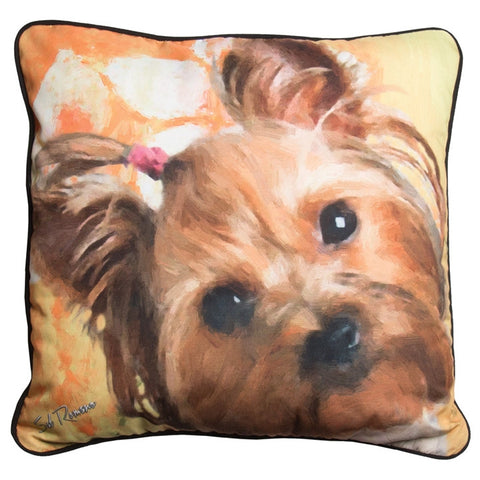 Martha the Silky Terrier Pillow