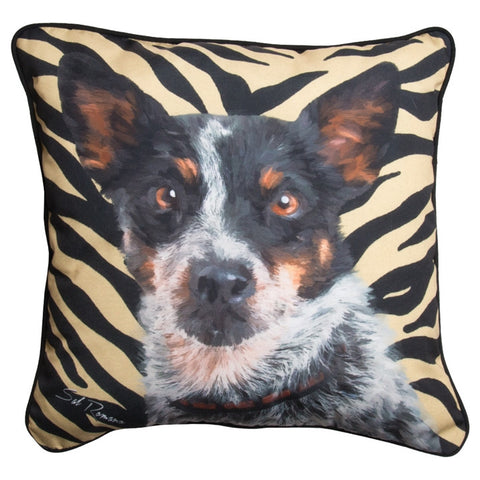 Chevy the Blue Heeler Pillow
