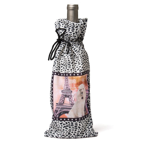 French Poodle Deluxe Wine Bag