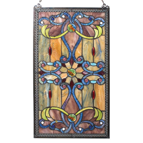 Victorian Ribbons Stained Glass Panel