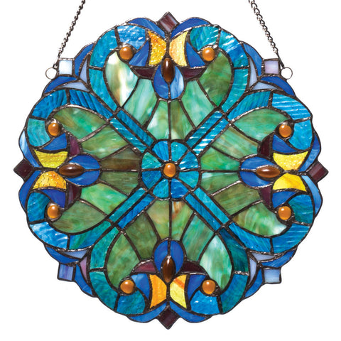 Halston Hearts Stained Glass Panel