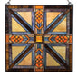Square Mission Style Stained Glass Suncatcher