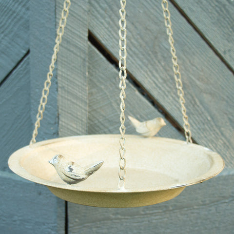 Metal Bird Feeding Dish With Hanger