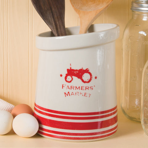 Red Tractor Utensil Holder