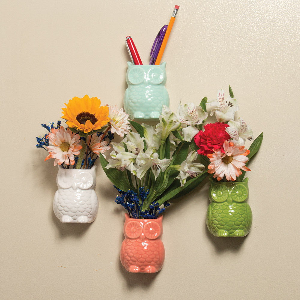 Little Owl Magnetic Bud Vases