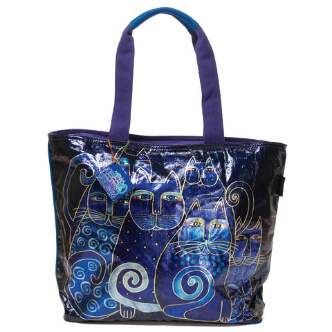 Laurel Burch 'Indigo Cats' Shoulder Tote