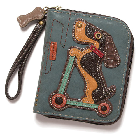 Scooting Weiner Dog Wallet