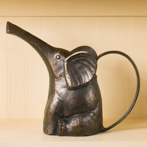 Cast Metal Elephant Watering Can (NB)
