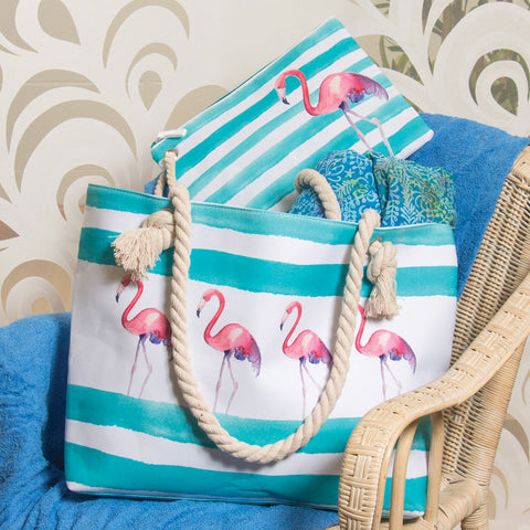 Flamingo Beach Bag Set (NB)