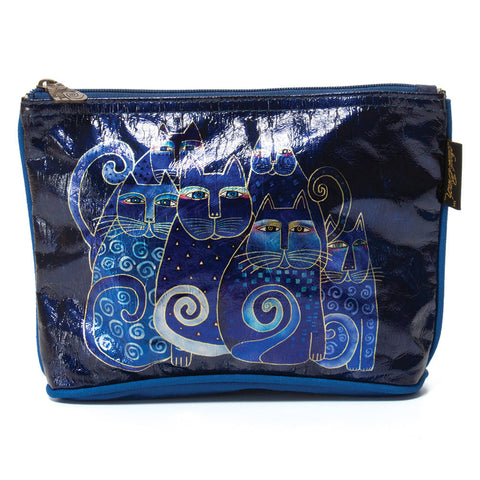 Laurel Burch 'Indigo Cats' Cosmetic Bag