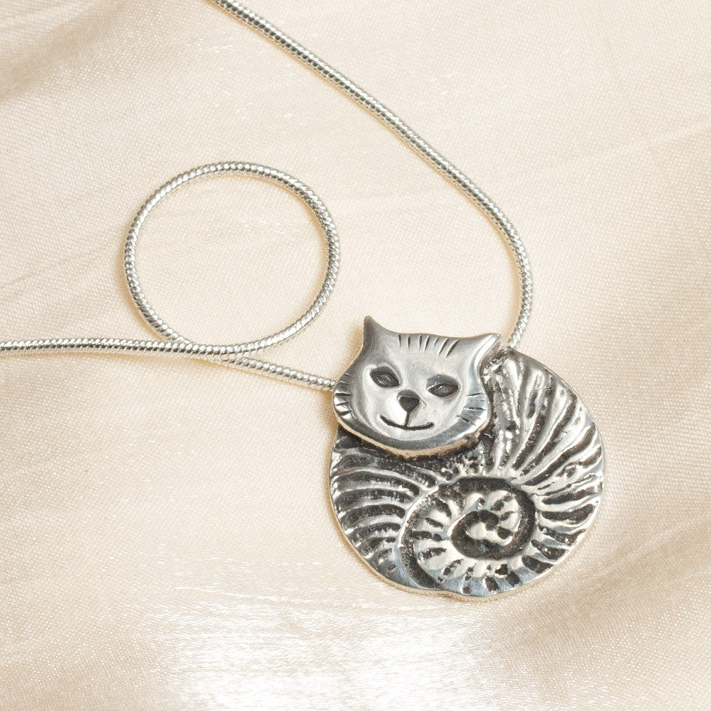 Fat Cat Pewter Necklace