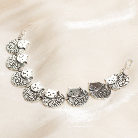 Fat Cat Pewter Bracelet