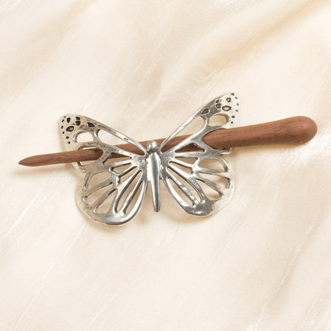 Pewter Butterfly Hair Slide