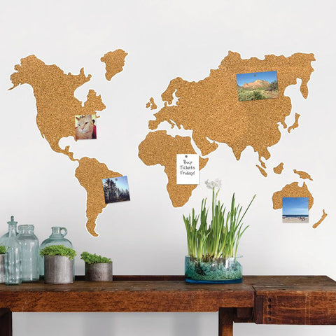 Cork World Map Pinboard