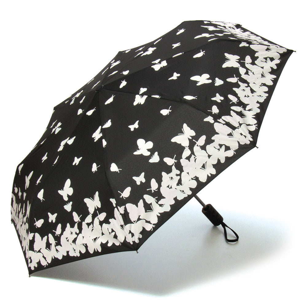 Color Changing Butterflies Compact Umbrella