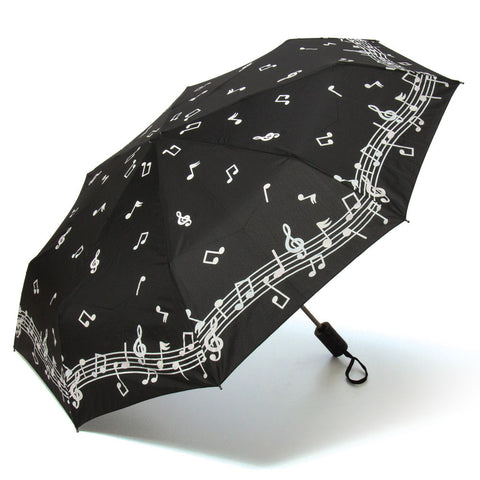 Color Changing Music Notes Compact Umbrella