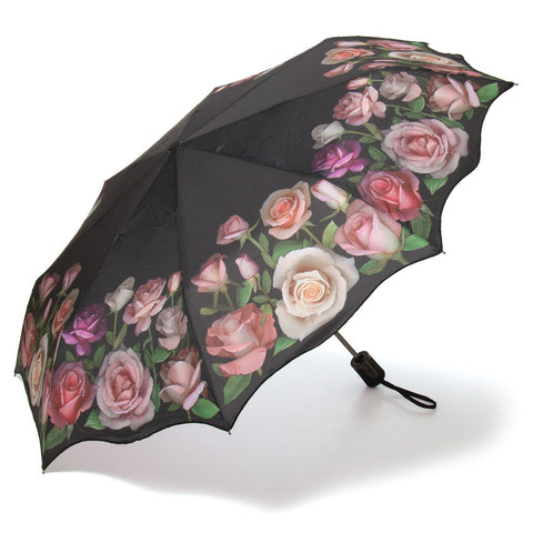 Antique Roses Silk Compact Umbrella