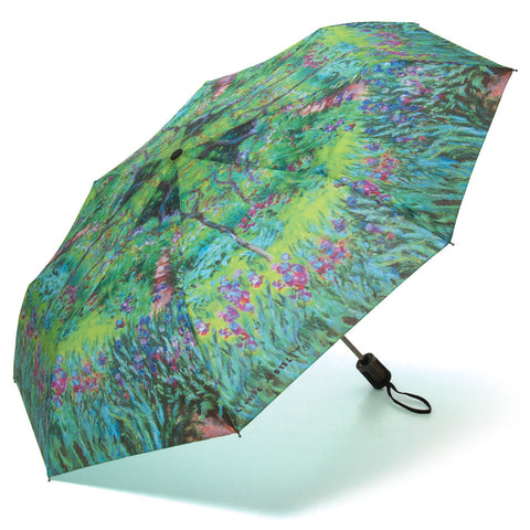 Monet's Garden Silk Compact Umbrella