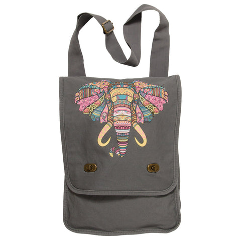 Mosaic Elephant Field Bag