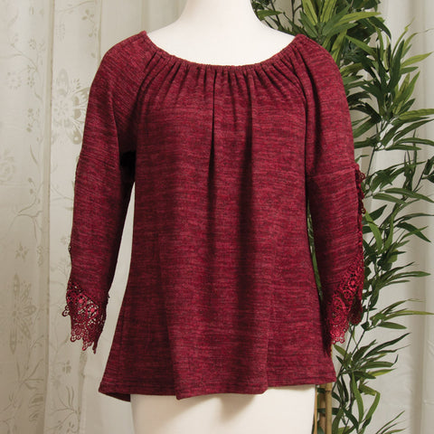 Soft and Cozy Lacey Sleeve Top (NB)