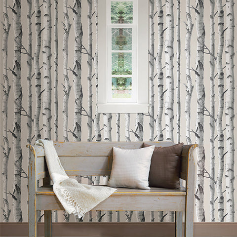 Birch Trees Peel-and-Stick Wallpaper (NB)