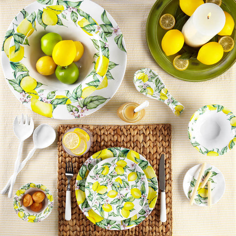 Limonata Ruffled Salad Plates