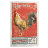 Vintage Farm Rooster Tea Towels, Set of 4