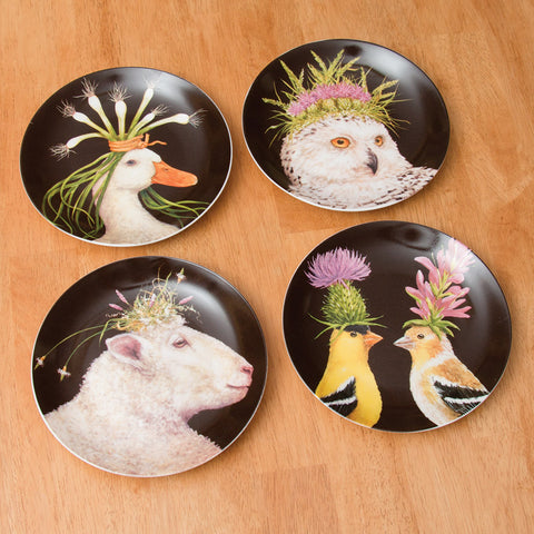Wild & Wooly Art Plates, Set of 4