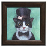 The Mad Catter (and Friend) Framed Print
