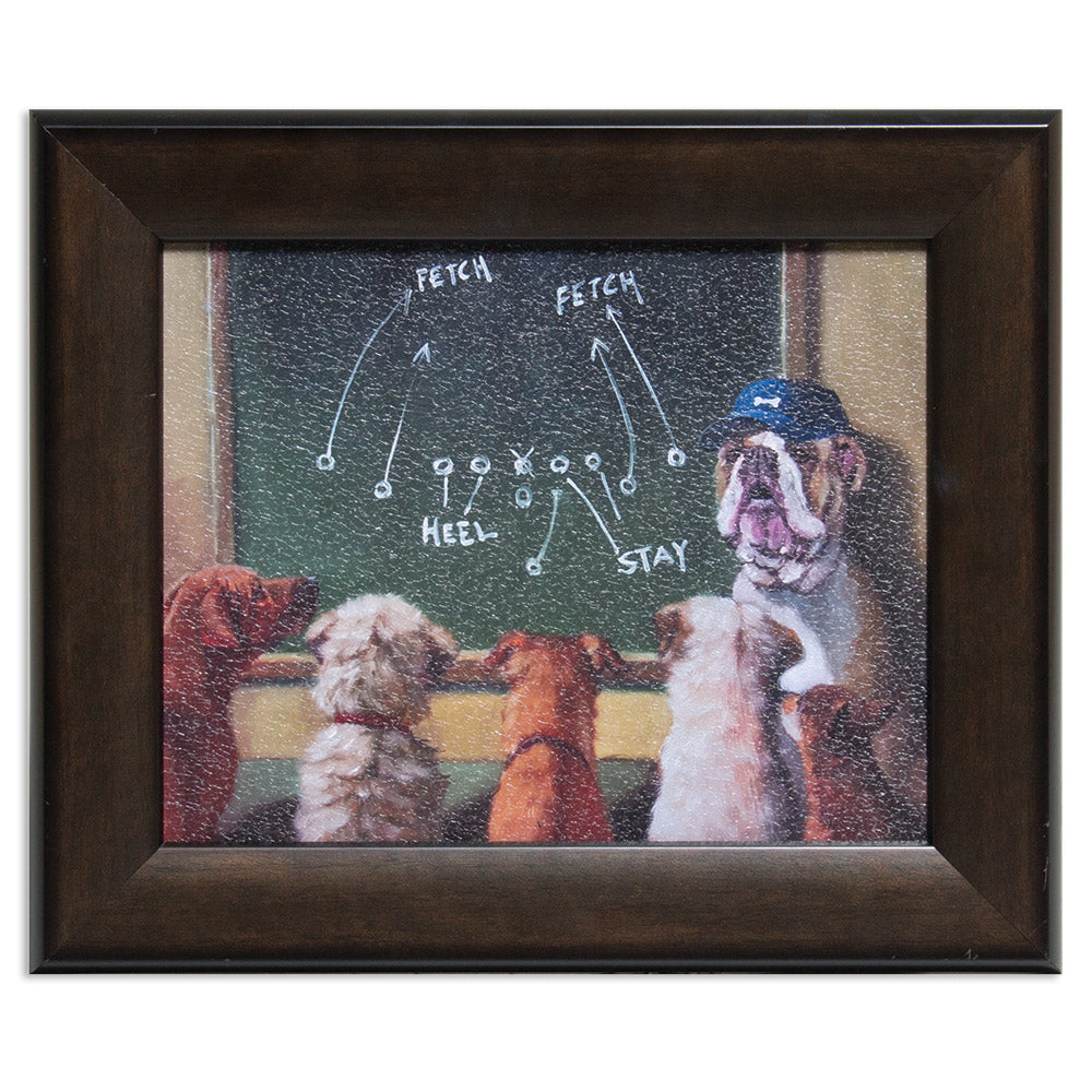 Game Plan Dogs Framed Print