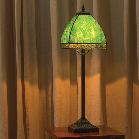 Bent Glass Courtly Table Lamp