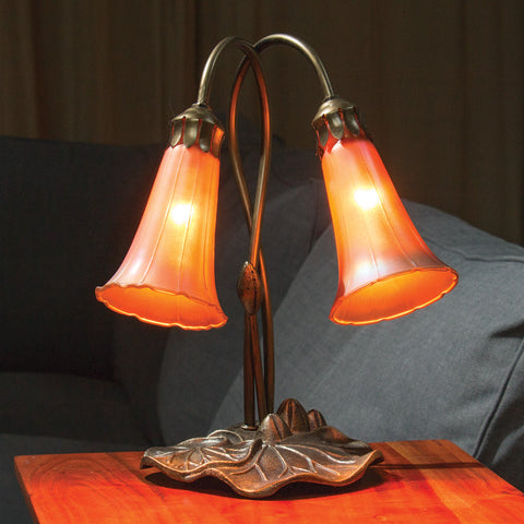 Golden Favrile Lilies Table Lamp (NB)
