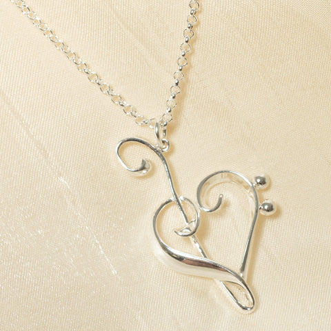 Heart of Clefs Necklace (NB)