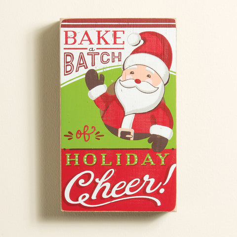 Bake a Batch of Holiday Cheer Wood Plaque (NB)