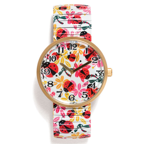 Ladybugs and Blossoms Wristwatch