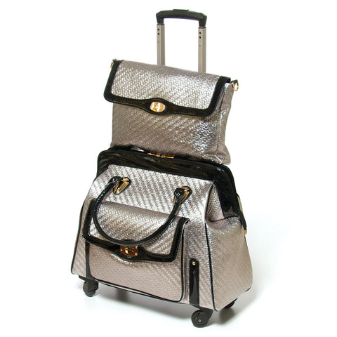 Couture Travel Bag Set in Pewter