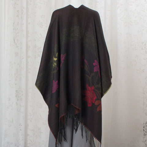 Nocturnal Hibiscus Shawl (NB)