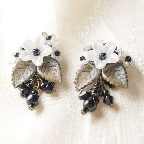 Black & White Posey Earrings