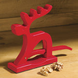 Red Reindeer Nutcracker