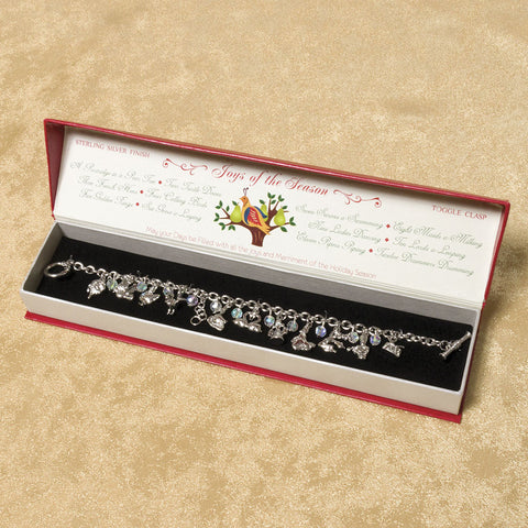 12 Days of Christmas Silver Charm Bracelet (NB)
