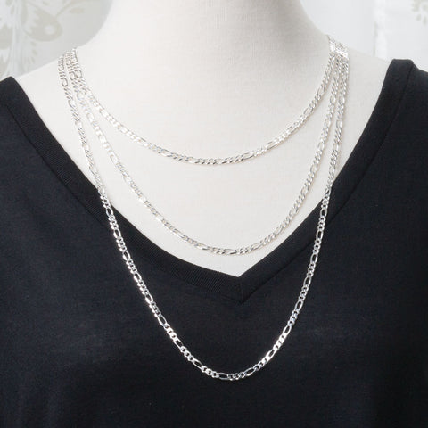 Figaro Silver Necklace Chain