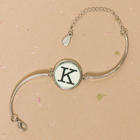 Single Typewriter Key Bracelet (1 Char)