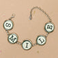 Five Typewriter Keys Personalized Bracelet (5 Char)