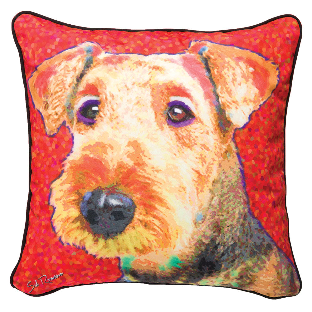 Thornton the Airedale Pillow at Linda Anderson