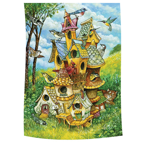 Birdhouse Mansion Garden Flag