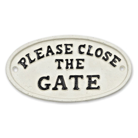Depot 'Please Close The Gate' Sign