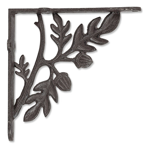 Acorns Cast Iron Brackets, Set of 2